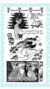 Merrie Christmas // Clear stamps pack (10cm x 18cm ) FLONZ