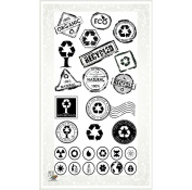 Eco Recyled Stamps // Clear stamps pack (10cm x 18cm ) FLONZ