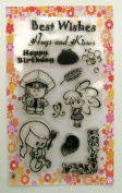 Policeman and mermaid // Clear stamps pack (10cm x 18cm ) FLONZ