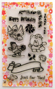 Animals sport // Clear stamps pack (10cm x 18cm ) FLONZ