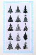 Small Pine Trees // Clear stamps pack (10cm x 18cm ) FLONZ
