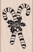 Candy Canes Wood Mounted Stamp