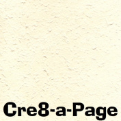 Cre8-a-Page E-10 Handmade Pale Orange Embossed Paper 12x12 Scrapbooking, 10 Sheets