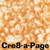 Cre8-a-Page V-1 Handmade Bright Orange Transparent Veil Paper 12x12 Scrapbooking, 10 Sheets