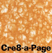 Cre8-a-Page V-4 Handmade Dark Orange Transparent Veil Paper 12x12 Scrapbooking, 10 Sheets