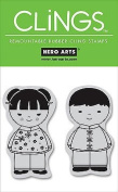 Hero Arts CLINGS Rubber Stamp / Friends