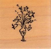 Little Vase Wood Mounted Rubber Stamp