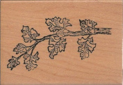 Oak Branch Wood Mounted Rubber Stamp