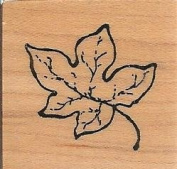 Single Leaf Wood Mounted Rubber Stamp