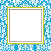 Three Designing Women Designer Self Adhesive Stickers, Blue Medallion Collection