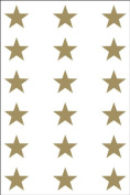 Ace Label 6008AL Teacher Star School Stickers, 1.9cm , Gold, 10 Sheets
