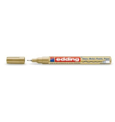 edding 780 Fine Bullet Tip Paintmarker Pack of of 2 - Gold and Silver