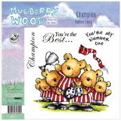 Mulberry Wood EZMount Cling Stamp Set 12cm x 12cm -Champion