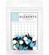 American Crafts Elements Medium Brads, Baby Boy