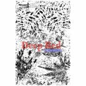Deep Red Cling Stamp 10cm x 15cm -Fossil Background