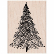Hero Arts Mounted Rubber Stamps 8.3cm x 5.7cm -Pen & Ink Christmas Tree