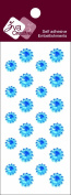 Zva Creative CRW-06CA-153 Crystal Sticker, Ice Blue Flower Accents