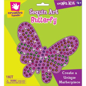 Sequins Mosaic Kit Makes 1-Butterfly