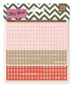 BasicGrey Hey Girl Collection, Matchbook Alpha