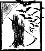 Halloween rubber stamp WM