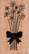Spring Bouquet Wood Mounted Rubber Stamp