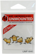 Art Impressions Chicks Rubber Stamp