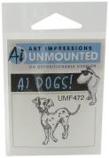 Art Impressions Dalmatian Rubber Stamp