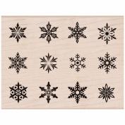 Hero Arts Mounted Rubber Stamps 8.3cm x 11cm -Snowflake Sampler