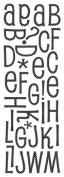 Momenta Glitter Puffy Alphabet Sticker, Pure, Polka Dot