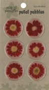 Die Cuts With A View Round Daisy Stickers, Red