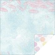 Kaisercraft - Pink Gelato - 12x12 Scrapbook Paper - Blueberry