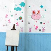 [Happy Rabbit] Decorative Wall Stickers Appliques Decals Wall Decor Home Decor