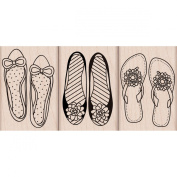 Hero Arts - Woodblock - Wood Mounted Stamps - Shoes Trio