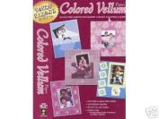 16 Paper Pizazz Coloured Vellum Scrapbooking