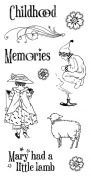 Graphic 45 Mother Goose Cling Stamps-2, Set of 10