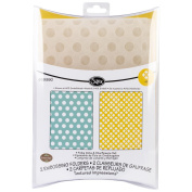 Sizzix Textured Impressions Embossing Folders 2/Pkg-Polka Dots & Starflowers