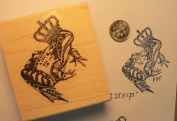 Frog prince rubber stamp p35