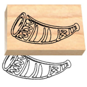 Ruth's Jewish Stamps Wood Mounted Rubber Stamp - Shofar