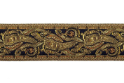Dove of the East Golden Ganesh Brocade Ribbon for Scrapbooking, 1-Yard