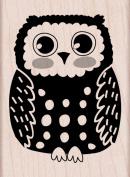 Hero Arts Circle Owl Woodblock Decorative Stamp