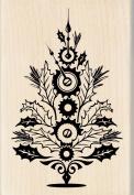 Inkadinkado Wood Stamp, Steampunk Christmas Tree