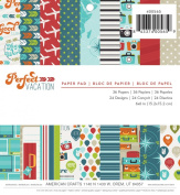 American Crafts 36 Sheets Imaginisce Perfect Vacation Paper Pad, 15cm by 15cm