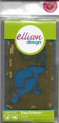 Ellison Design Easy Emboss Stencil - Tea Pot