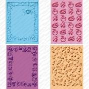 Provo Craft Cuttlebug Cricut Companion Embossing Folder Bundle, Mini Monsters
