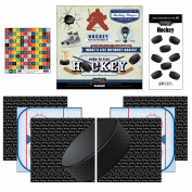 Scrapbook Customs Go Big Hockey Themed Paper and Stickers Scrapbook Kit
