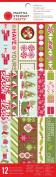 Martha Stewart Crafts Peppermint Winter Adhesive Border Pad for Scrapbooks