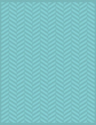 Craftwell USA Twill Herringbone Teresa Collins Embossing Folder, 22cm by 30cm