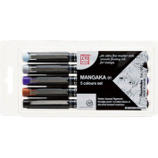 Zig Cartoonist Mangaka Marker Pen 5pc Set for Manga/Cartooning
