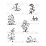 Heartfelt Creations Rubber Stamps - Woodland Growth