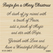 Merry Christmas Recipe Greeting Rubber Stamp By DRS Designs